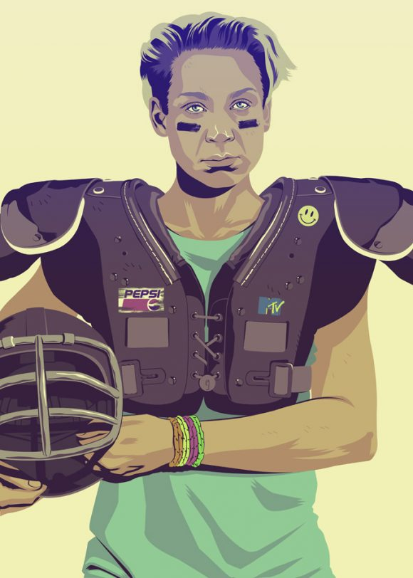 Brienne as 90s American Football Player