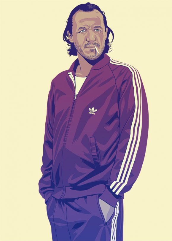 Game of Thrones Bronn in Adidas tracksuit