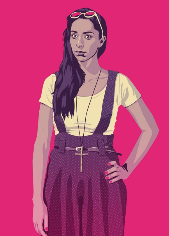 Talisa from Game of Thrones in 90s clothes