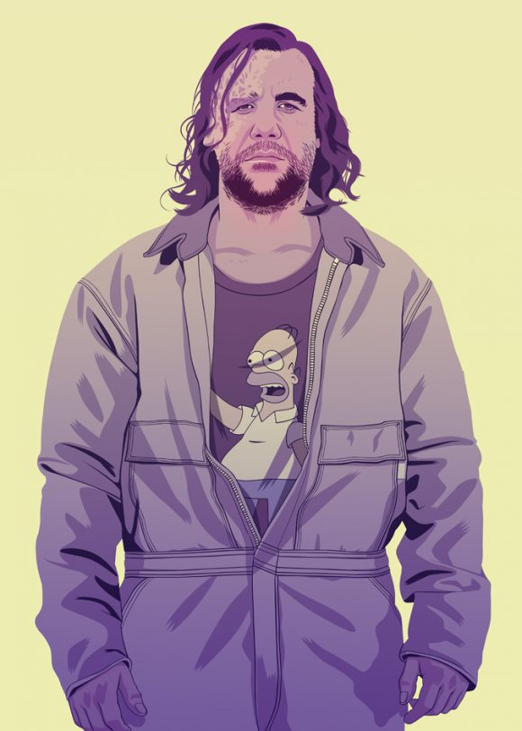 The Hound from Game of Thrones in Boiler Suit and Homer Tshirt