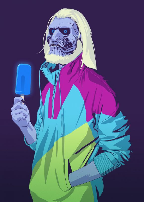 Game of Thrones White Walker in Retro Shellsuit